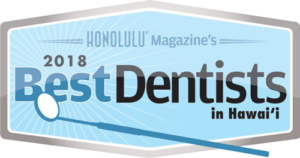 Honolulu Magazine's 2018 Best Dentists in Hawaii seal
